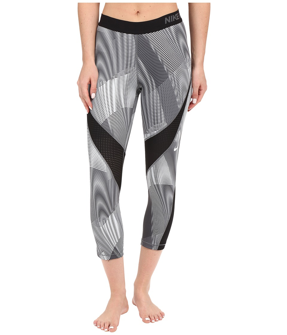 Nike - Pro Hypercool Frequency Capris (Black/Dark Grey/Dark Grey/White) Women's Workout