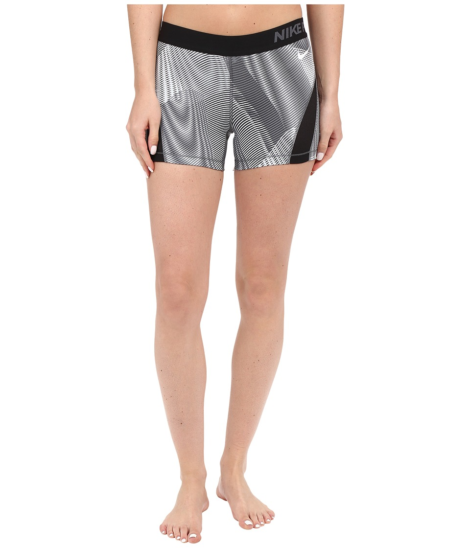 Nike - Pro Hypercool Frequency Shorts (Black/Dark Grey/Dark Grey/White) Women's Shorts