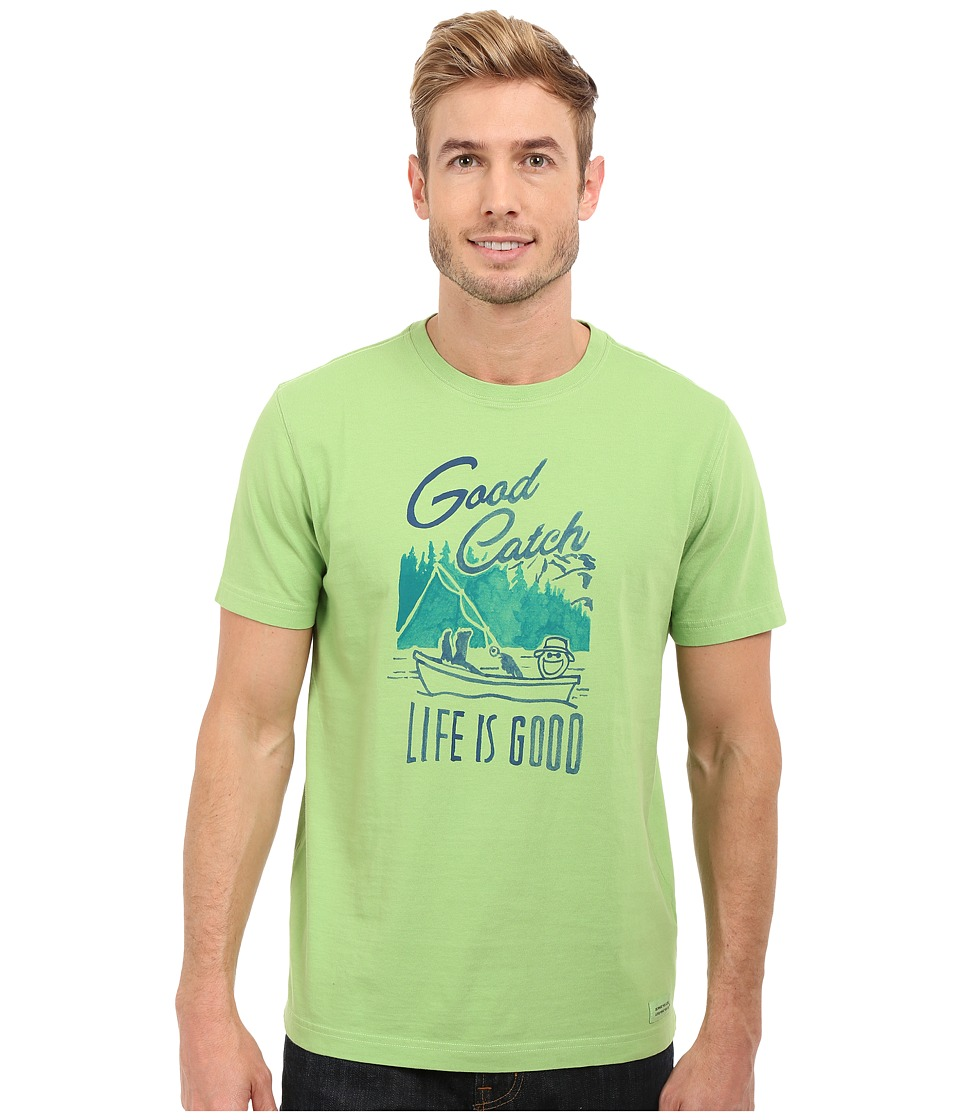 Life is good - Good Catch Crusher Tee (Fern Green) Men's T Shirt