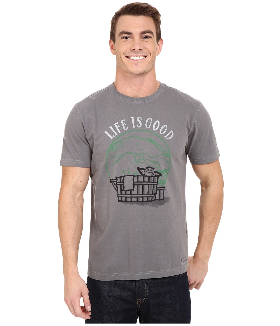 Life is good - Hot Tub Crusher Tee (Slate Gray) Men's T Shirt