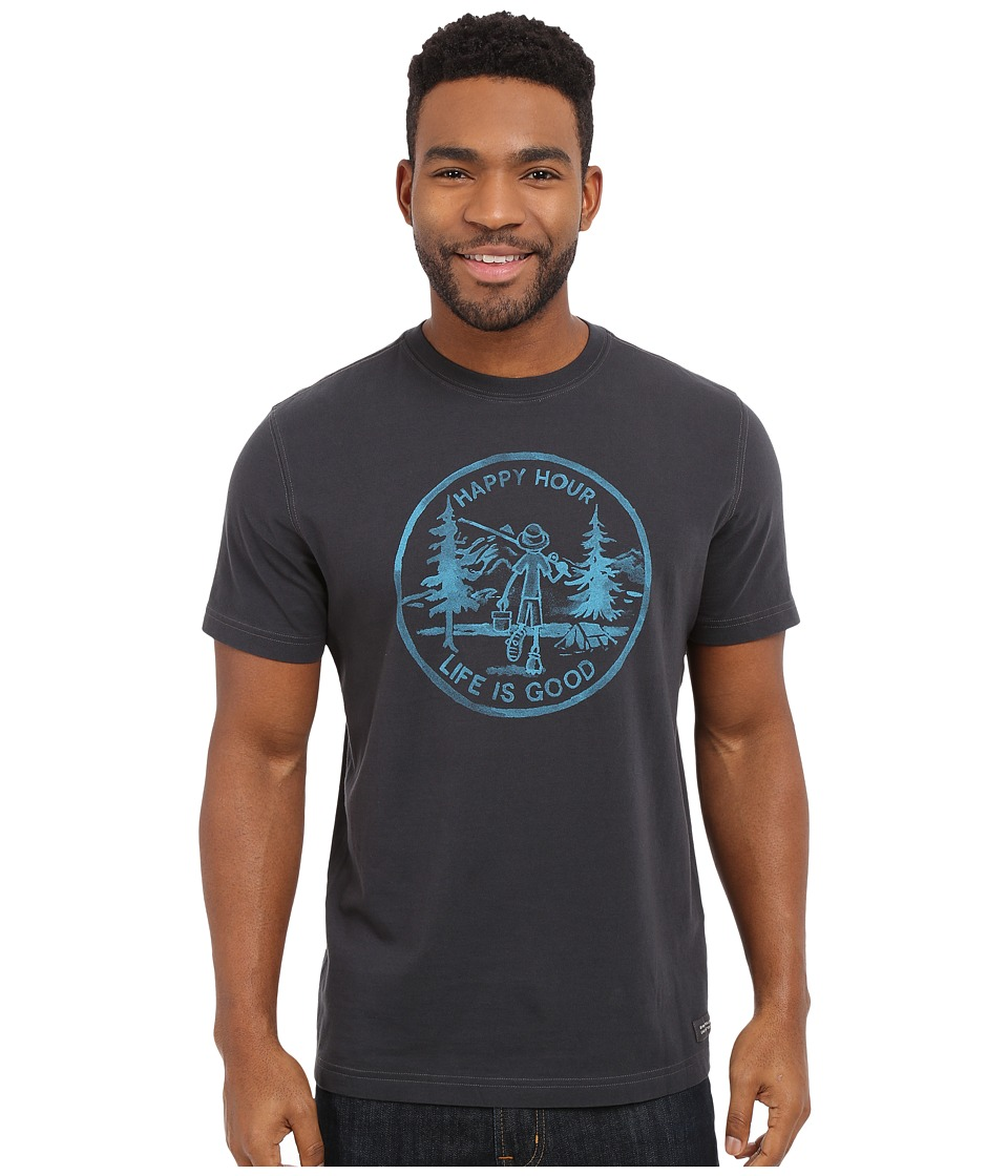 Life is good - Happy Hour Crusher Tee (Night Black) Men