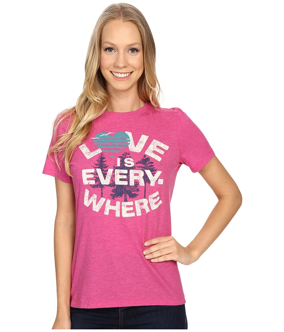 Life is good Love Is Everywhere Cool Tee (Bold Pink) Women