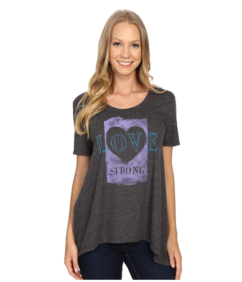 Life is good Love Strong Slouchy Texture Tee (Night Black) Women