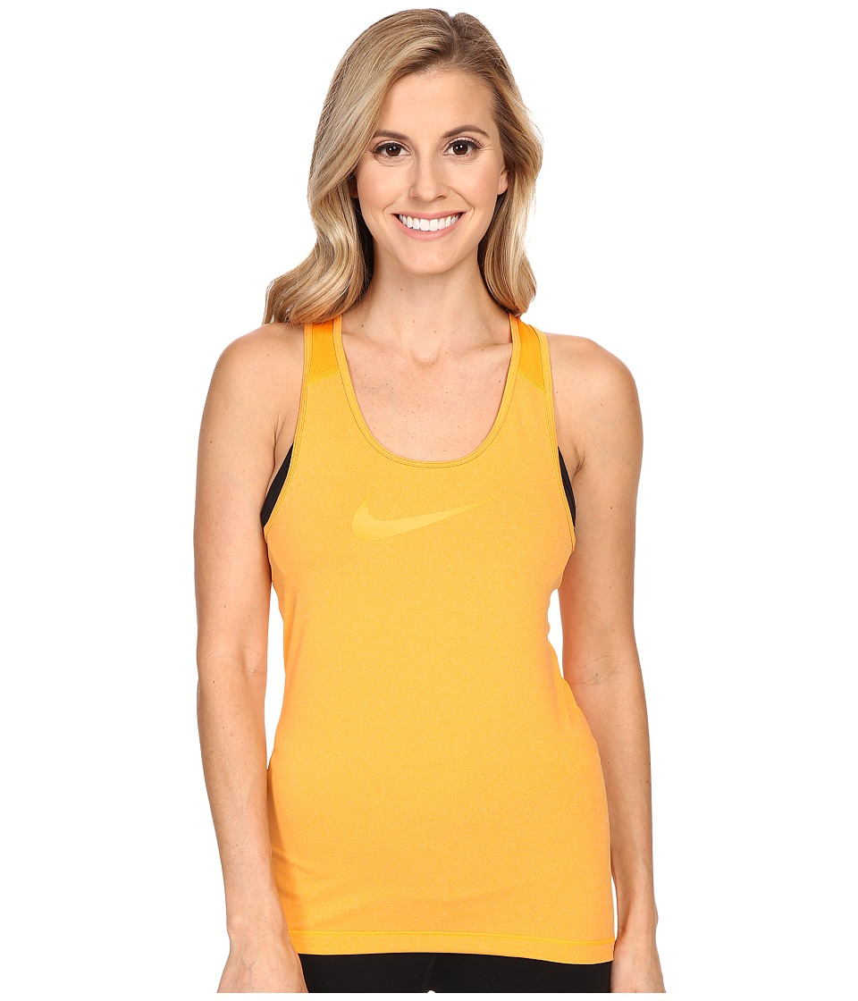 Nike - Pro Cool Training Tank Top (Vivid Orange/Heather/Vivid Orange) Women's Sleeveless