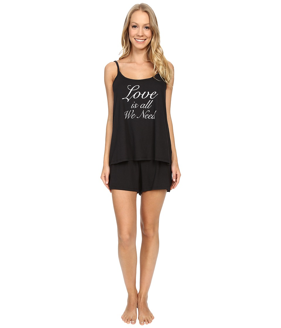 Life is good - Love Is All We Need Cami Sleep Set (Night Black) Women's Pajama Sets