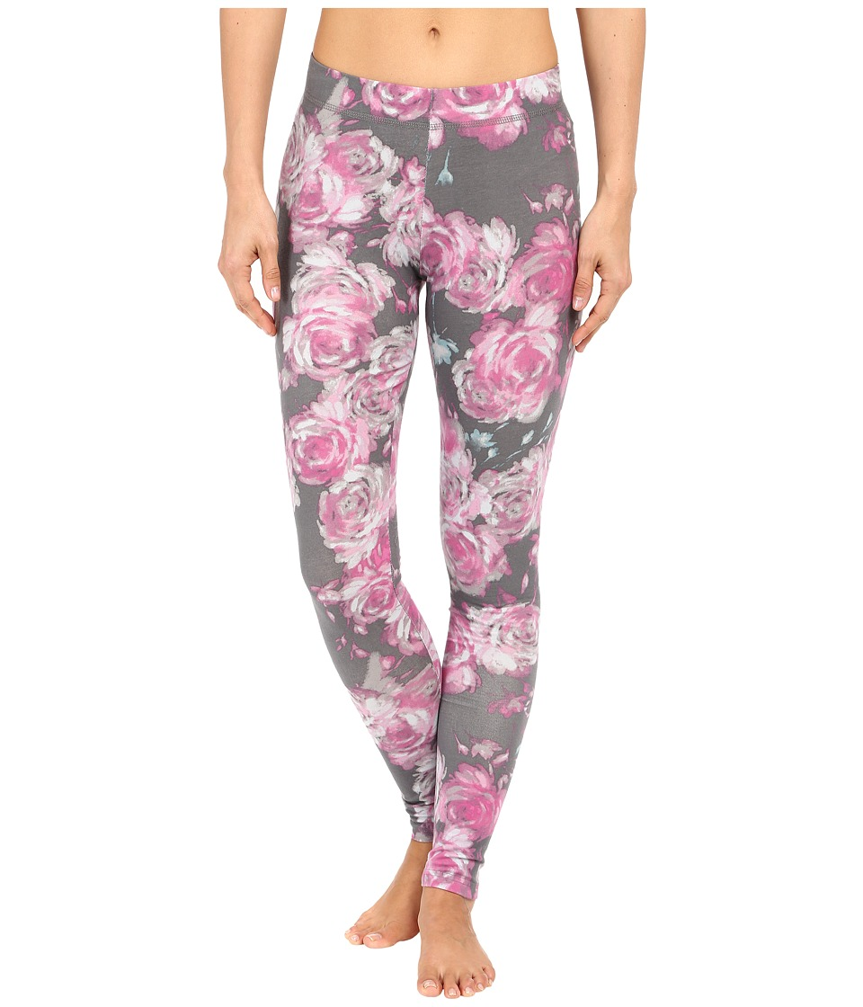 Life is good - Floral Wallpaper Sleep Leggings (Slate Gray) Women's Pajama