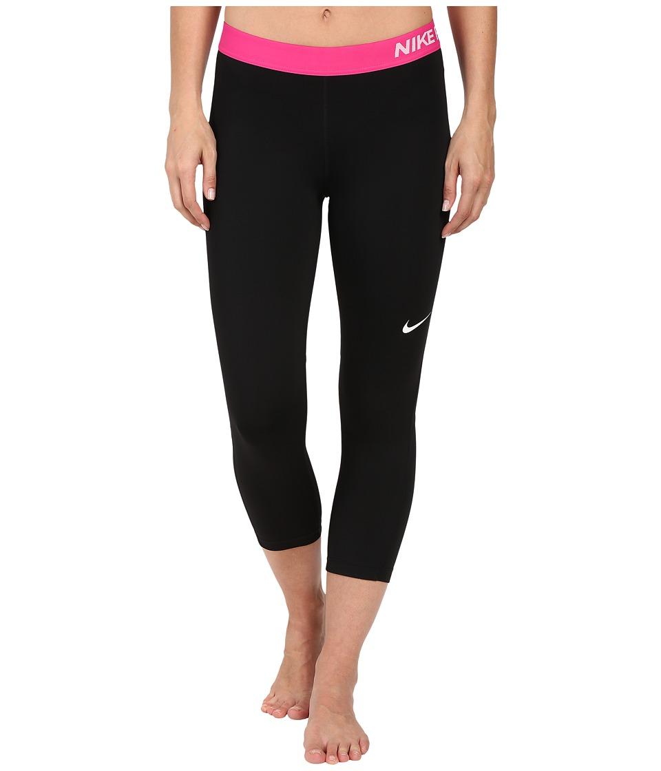 Nike - Pro Cool Capris (Black/Volt/White) Women's Capri