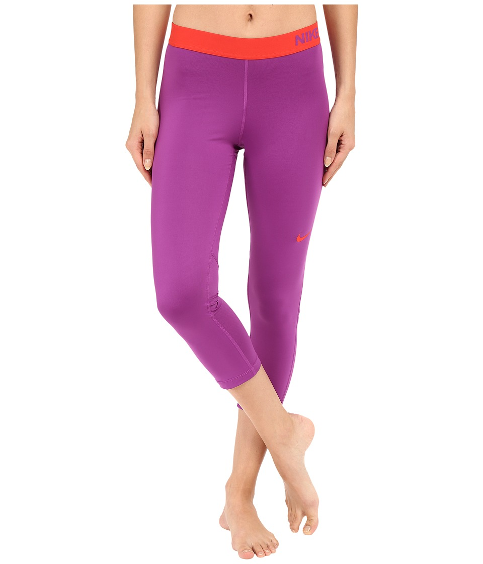 Nike - Pro Cool Capris (Cosmic Purple/Light Crimson) Women's Capri