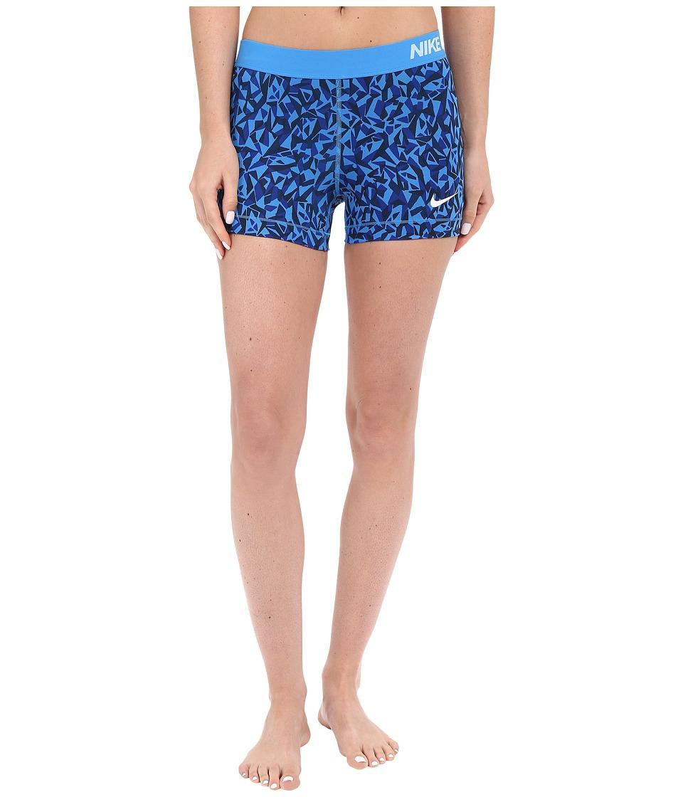 Nike - Pro 3 Cool Facet Training Short (Light Photo Blue/Black/White) Women's Shorts