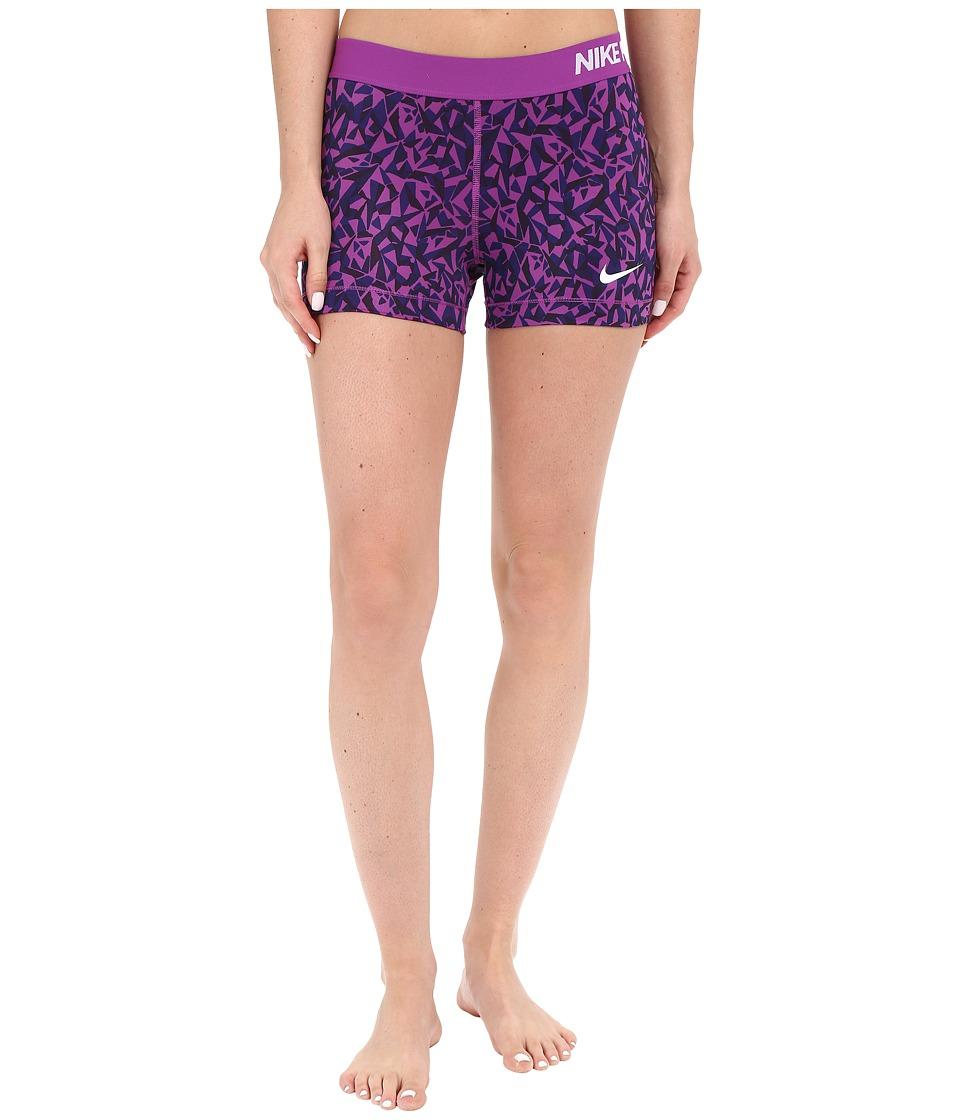 Nike - Pro 3 Cool Facet Training Short (Cosmic Purple/Black/White) Women's Shorts