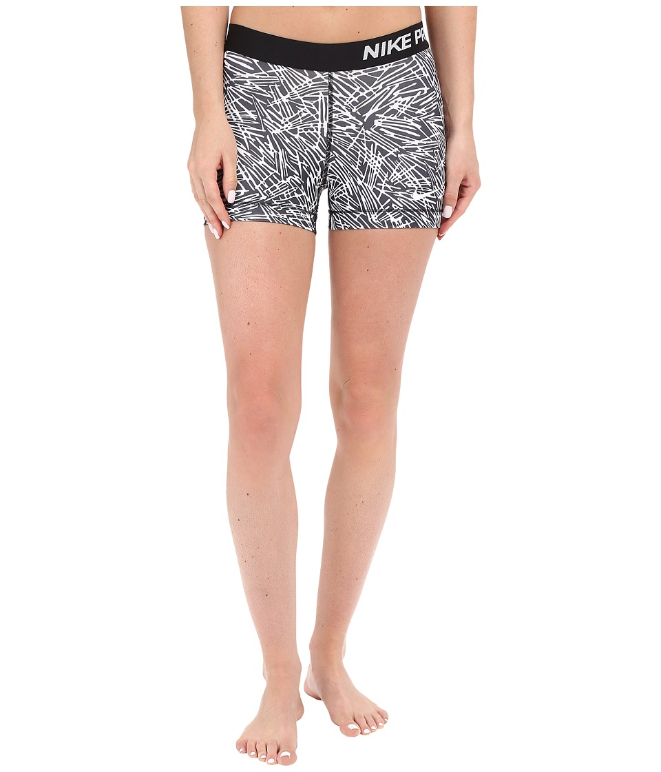 Nike Pro 3 Cool Palm Training Short (Black/White/White) Women
