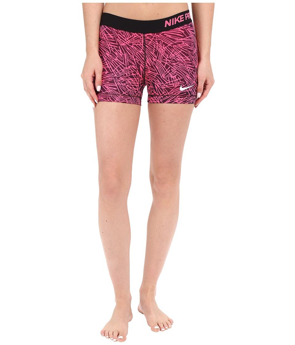 Nike - Pro 3 Cool Palm Training Short (Hyper Pink/Black/White) Women's Shorts