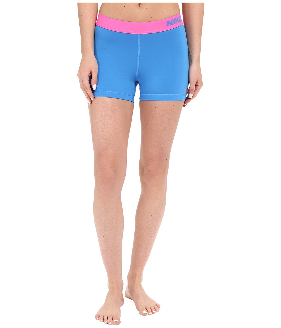 Nike - Pro 3 Cool Compression Training Short (Light Photo Blue/Hyper Pink/Hyper Pink) Women's Shorts