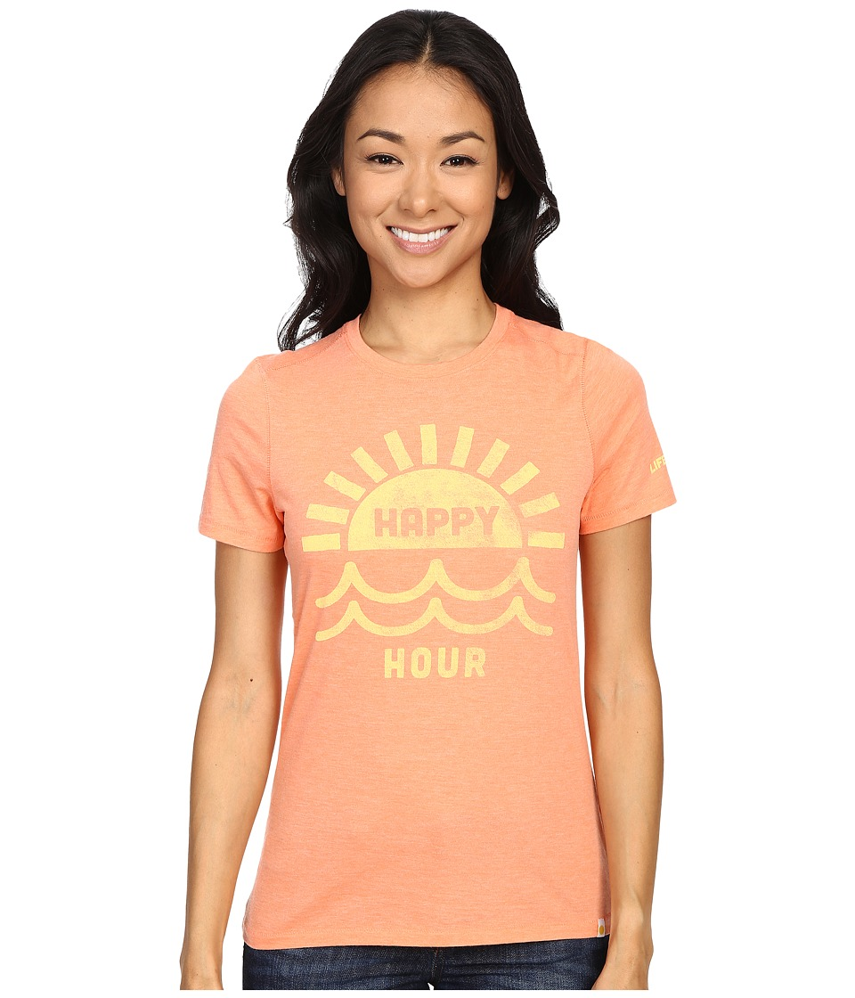 Life is good - Happy Hour Sun Water Cool Tee (Fresh Peach) Women's T Shirt