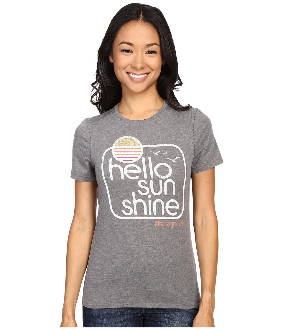 Life is good - Life Is Good Hello Sunshine Birds Cool Tee (Slate Gray) Women's T Shirt