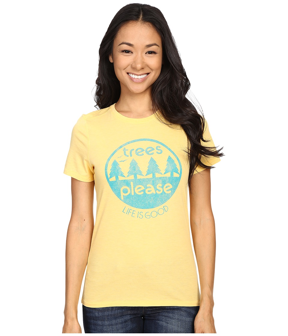 Life is good Life Is Good Trees Please Circle Cool Tee (Sunny Yellow) Women
