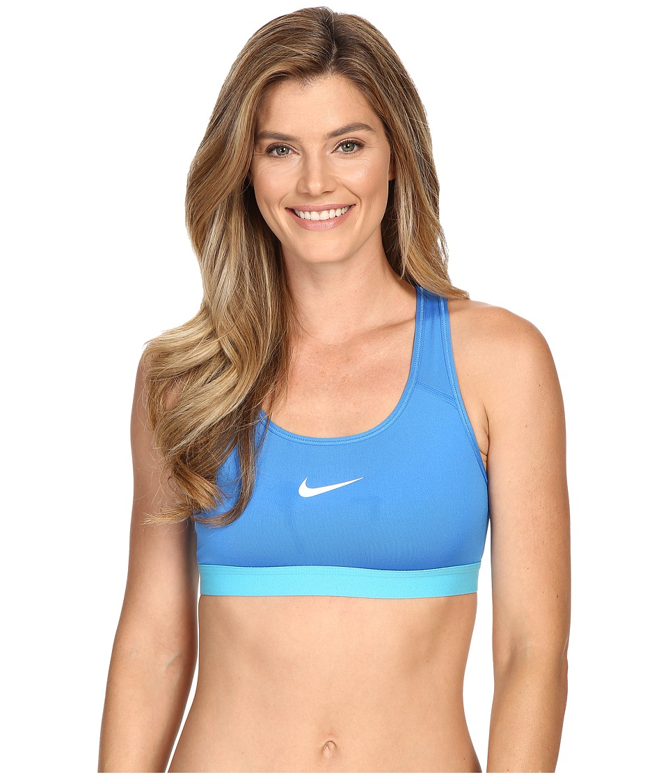 Nike - Pro Bra (Light Photo Blue/Omega Blue/White) Women's Bra