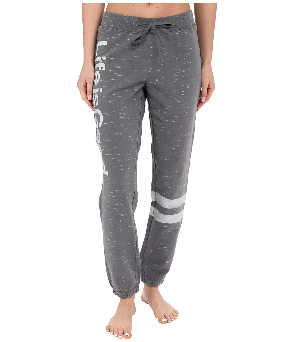 Life is good - Life Is Good Stripe Space Dye Joggers (Slate Gray) Women's Workout
