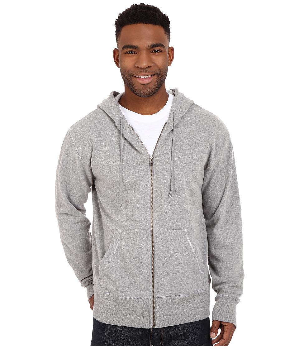 Life is Good - Circle Wave Go-To Zip Hoodie (Heather Gray) Men's Sweatshirt
