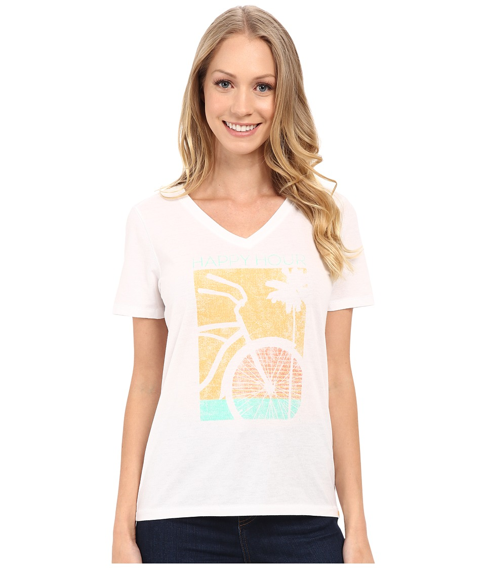 Life is good - Happy Hour Bike Cool Vee (Cloud White) Women's T Shirt
