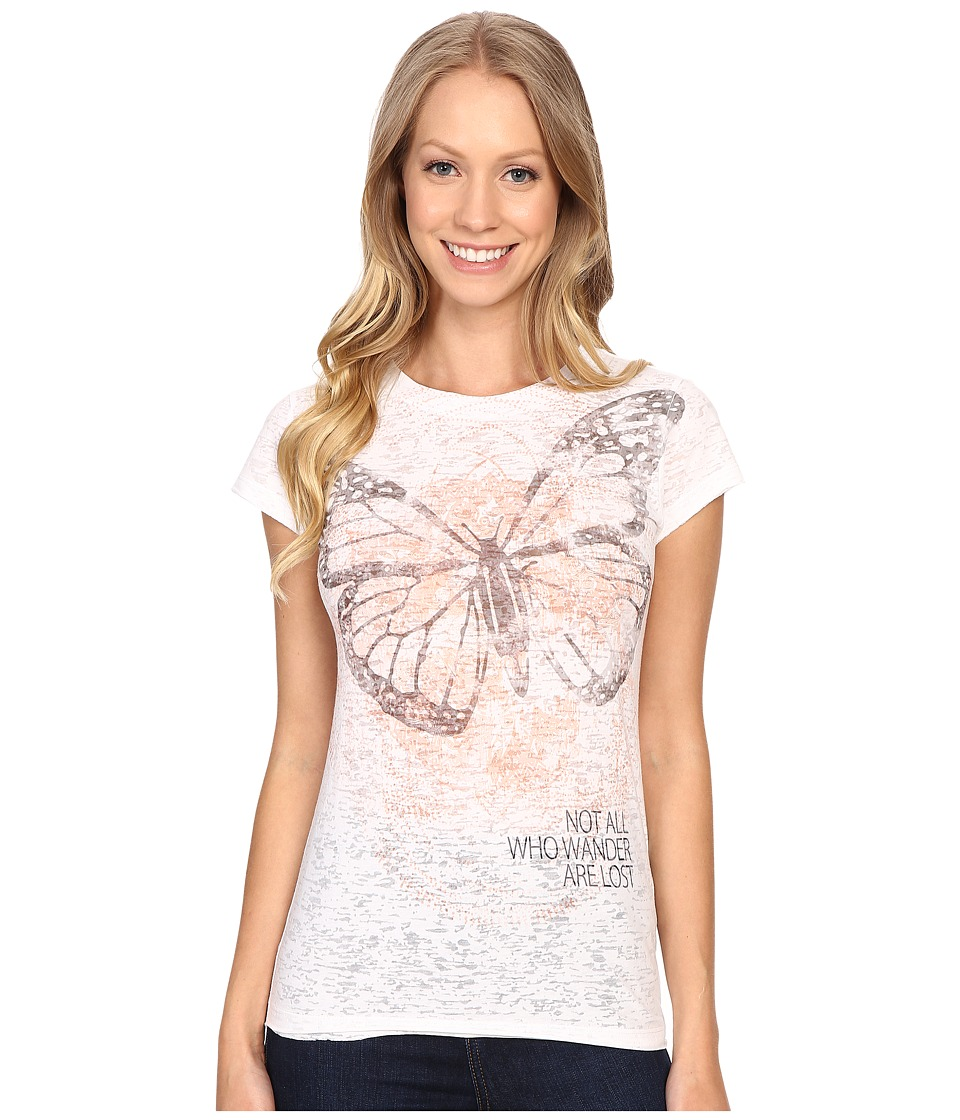Life is good Not All Who Wander Are Lost Topnotch Tee (Cloud White) Women
