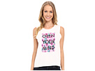 Open Your Mind Floral Muscle Tee