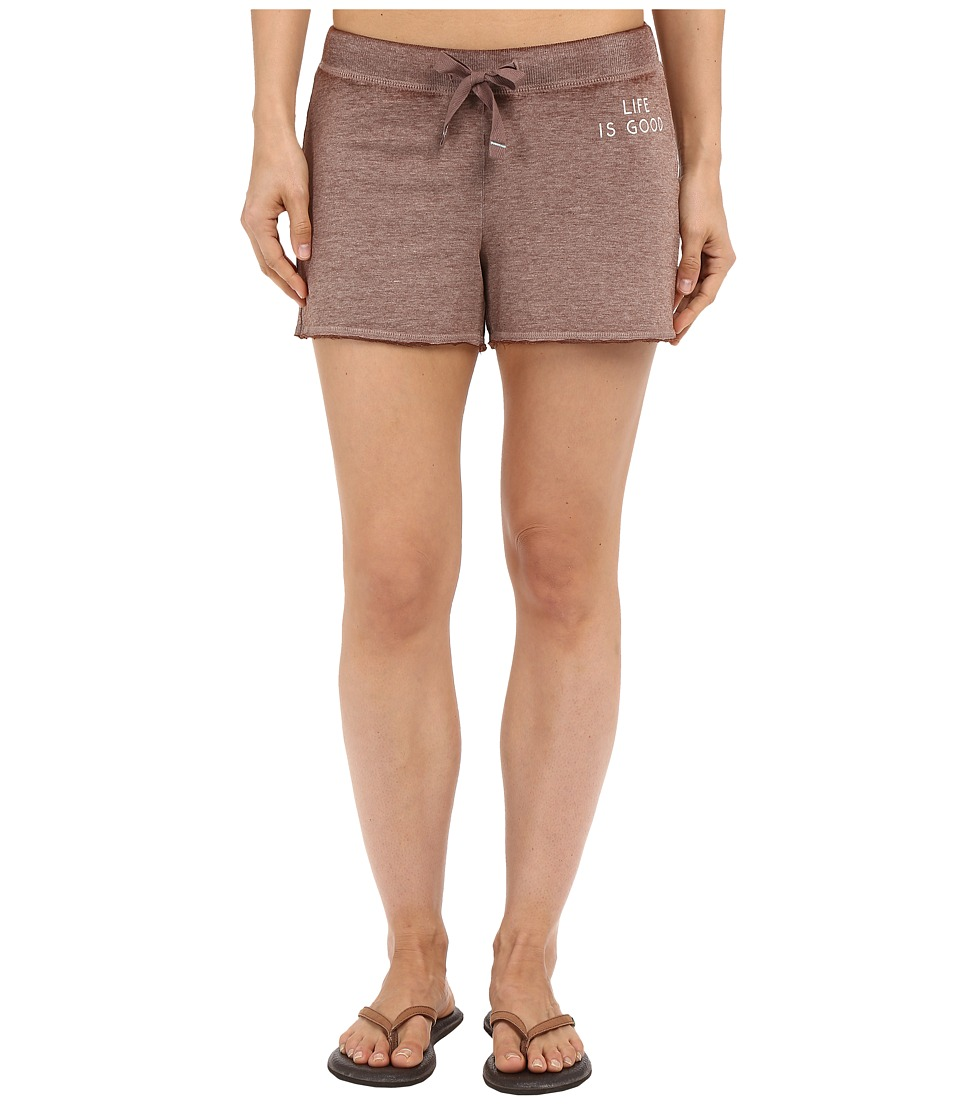 Life is good - Life Is Good Bold French Terry Shorts (Shale Brown) Women's Shorts