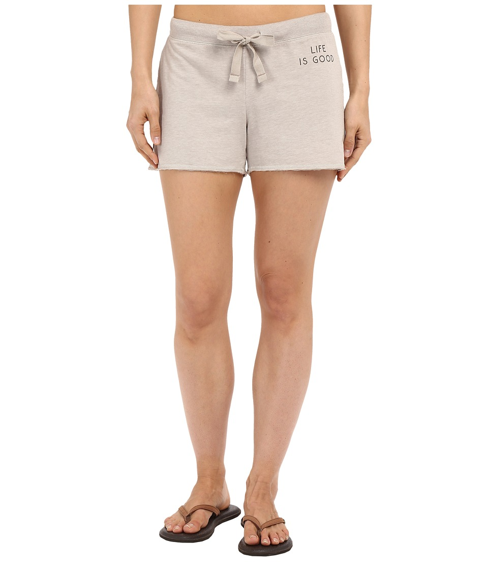 Life is good - Life Is Good Bold French Terry Shorts (Oatmeal) Women's Shorts