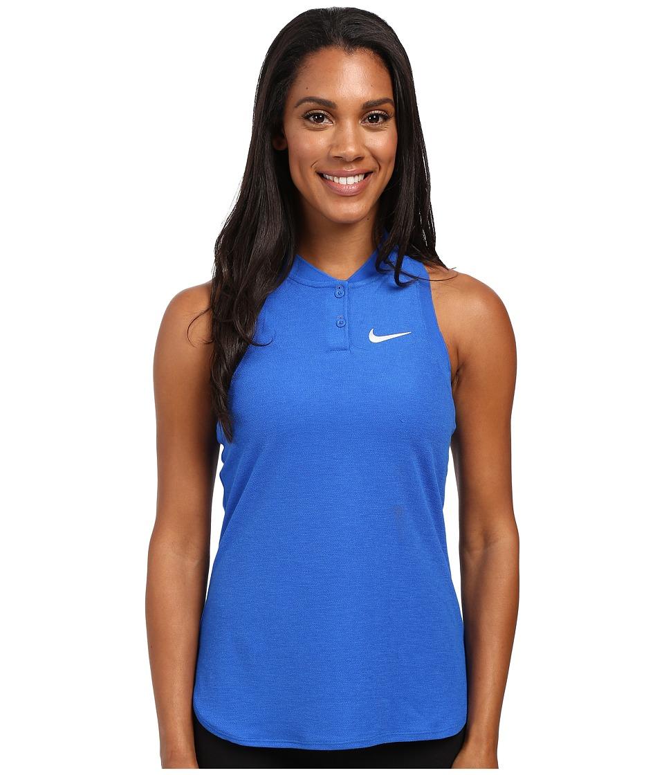 Nike - Court Premier Slam Tennis Tank Top (Hyper Cobalt/White) Women's Sleeveless
