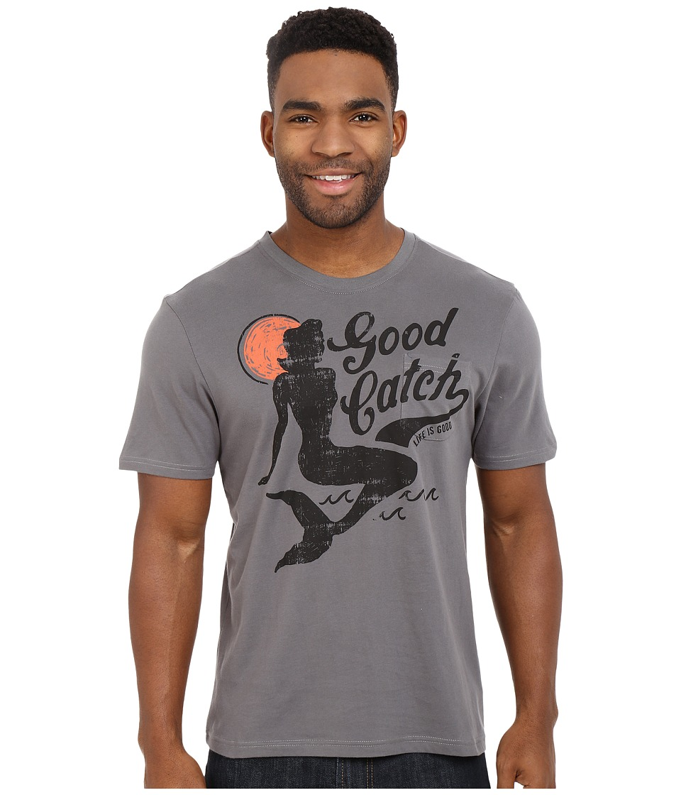 Life is good - Good Catch Pocket Sleep Tee (Slate Gray) Men's Pajama