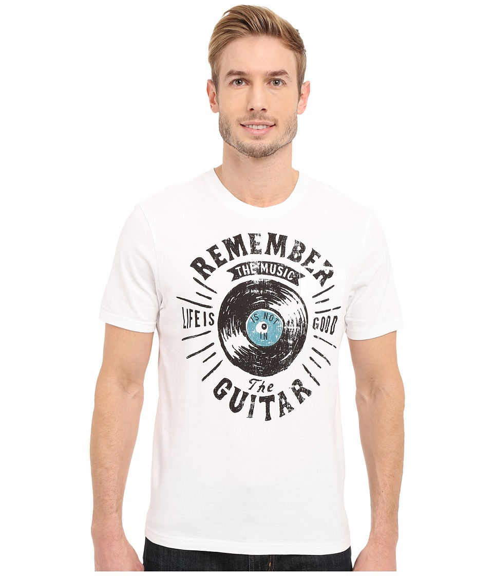 Life is good - Remember the Music Pocket Sleep Tee (Cloud White) Men's Pajama