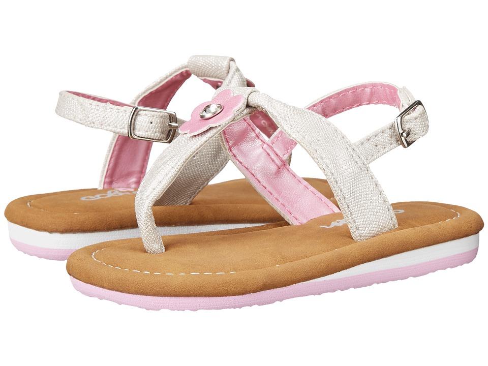 Cobian - Lilah (Infant/Toddler) (Silver) Women's Sandals