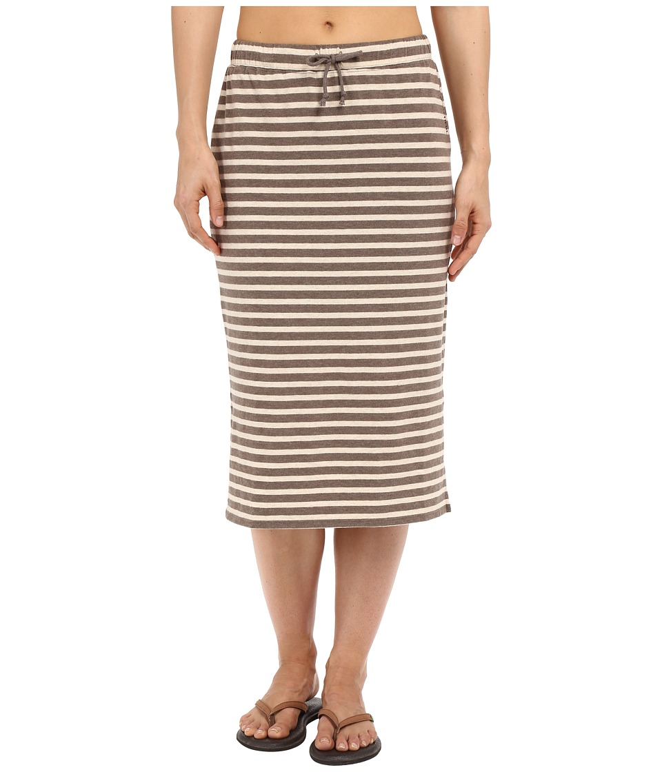 Life is Good Be Yourself Midi Length Knit Skirt (Shale Brown) Women