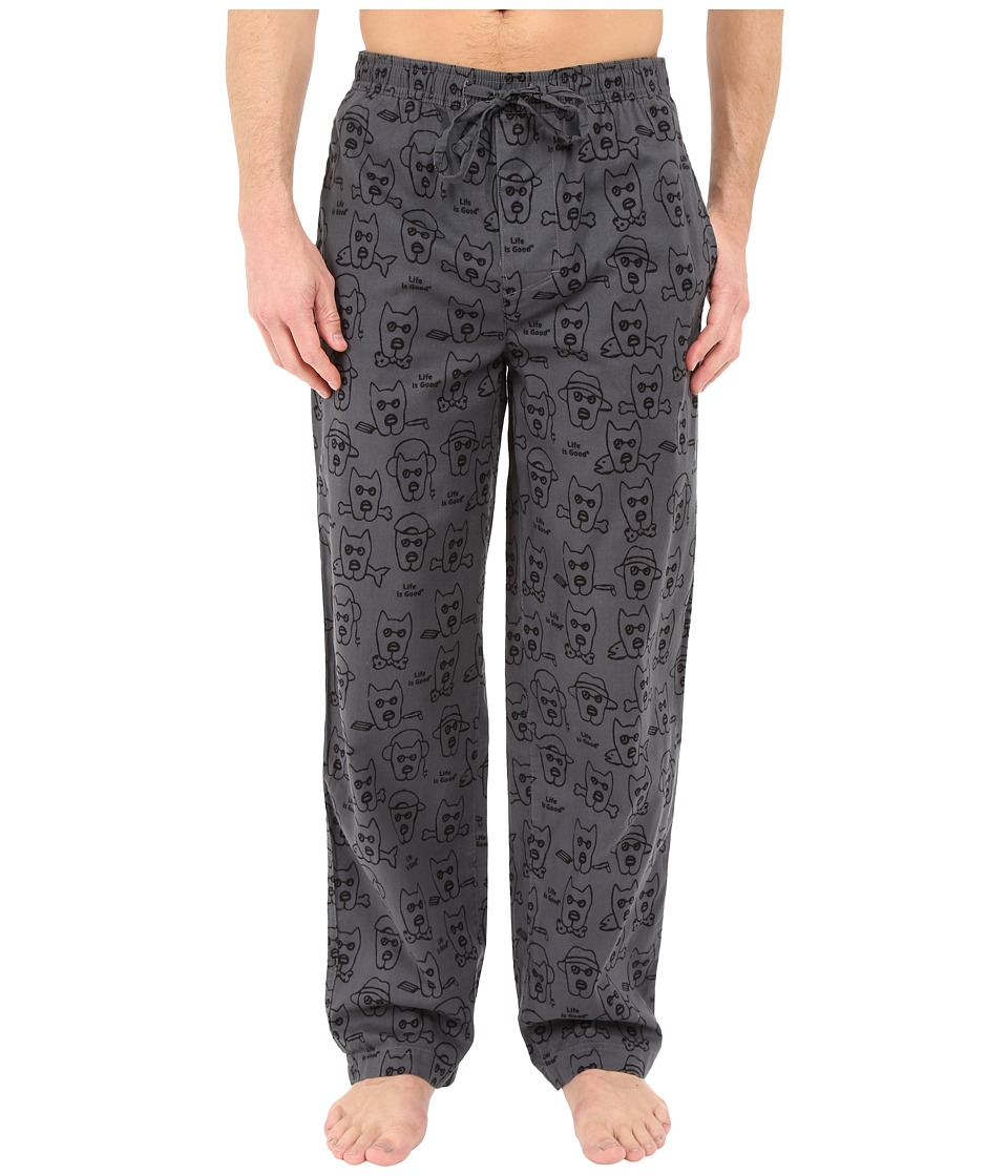 Life is good - Rockin' Dogs Classic Sleep Pants (Slate Gray) Men's Pajama