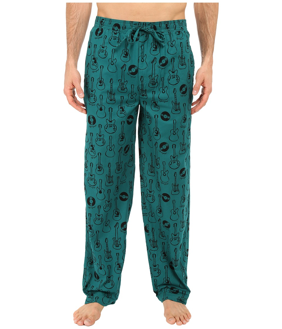 Life is good - Guitars Classic Sleep Pants (Beachy Teal) Men's Pajama