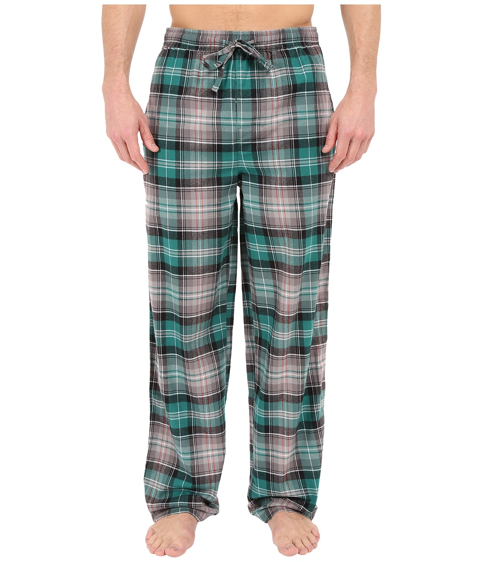 Life is good - Plaid Classic Sleep Pants (Teal/Gray Plaid) Men