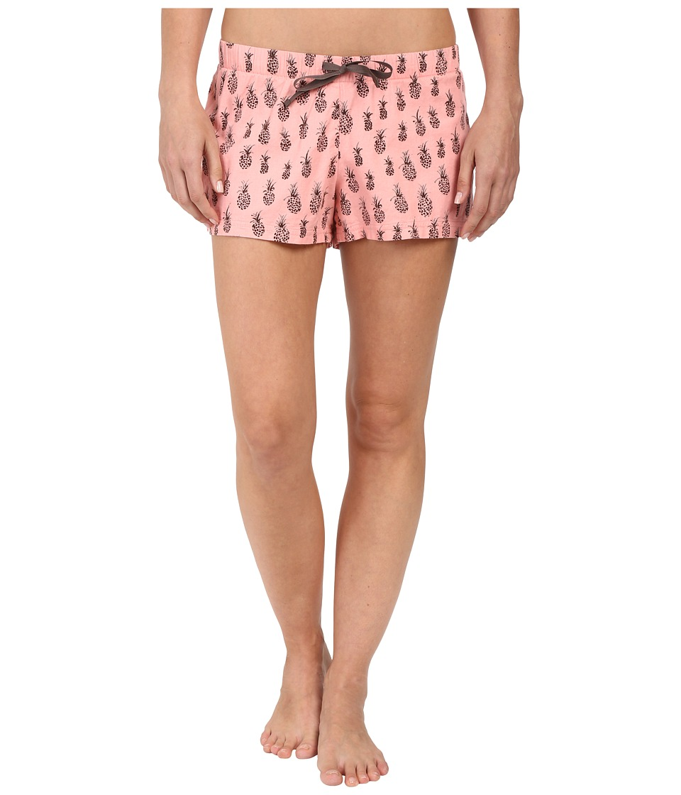 Life is good - Watercolor Pineapple Sleep Boxers (Dusty Pink) Women's Pajama