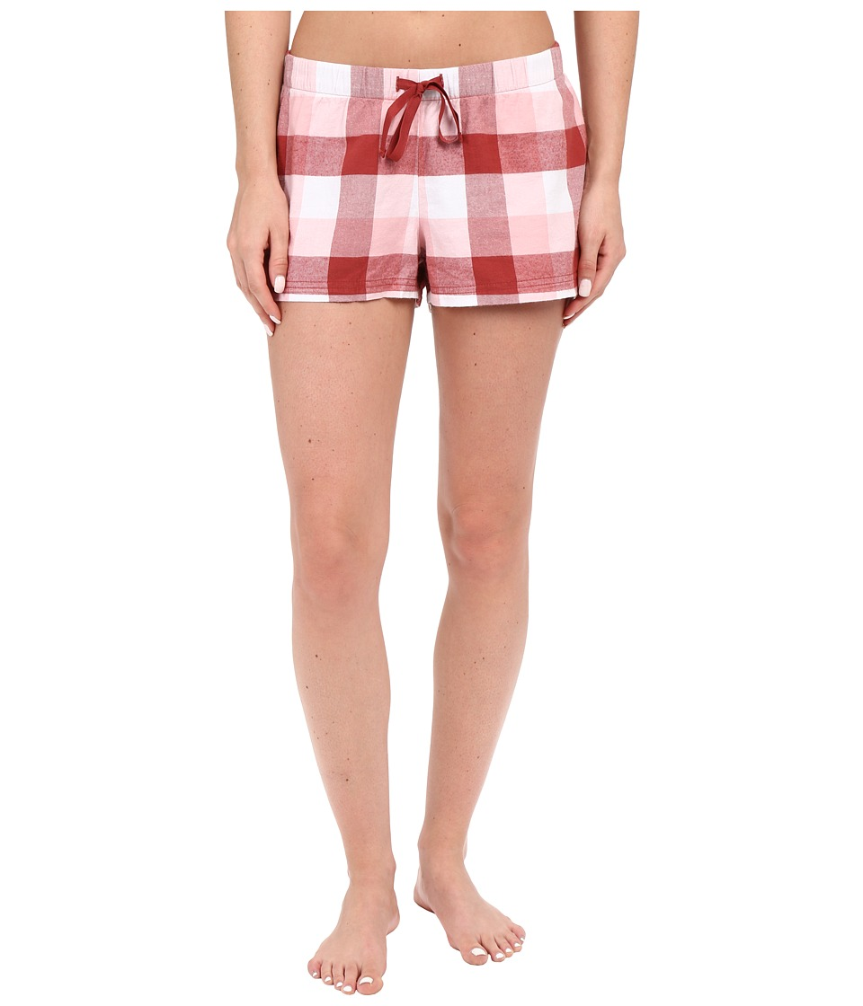 Life is good - Earthy Red Buffalo Plaid Sleep Boxer (Earthy Red Plaid) Women's Pajama