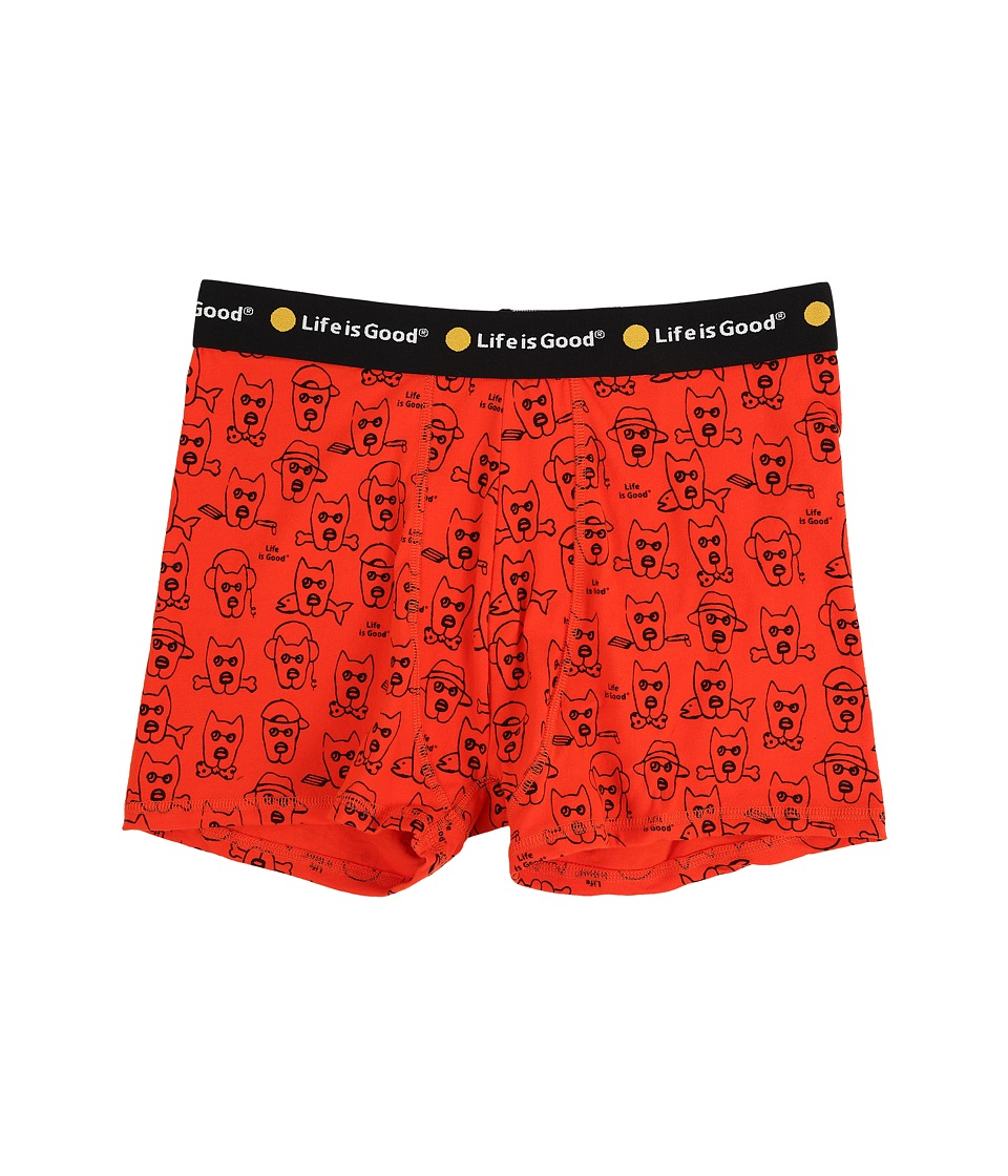 Life is good - Rockin' Dogs Classic Boxer Briefs (Flame Orange) Men's Underwear
