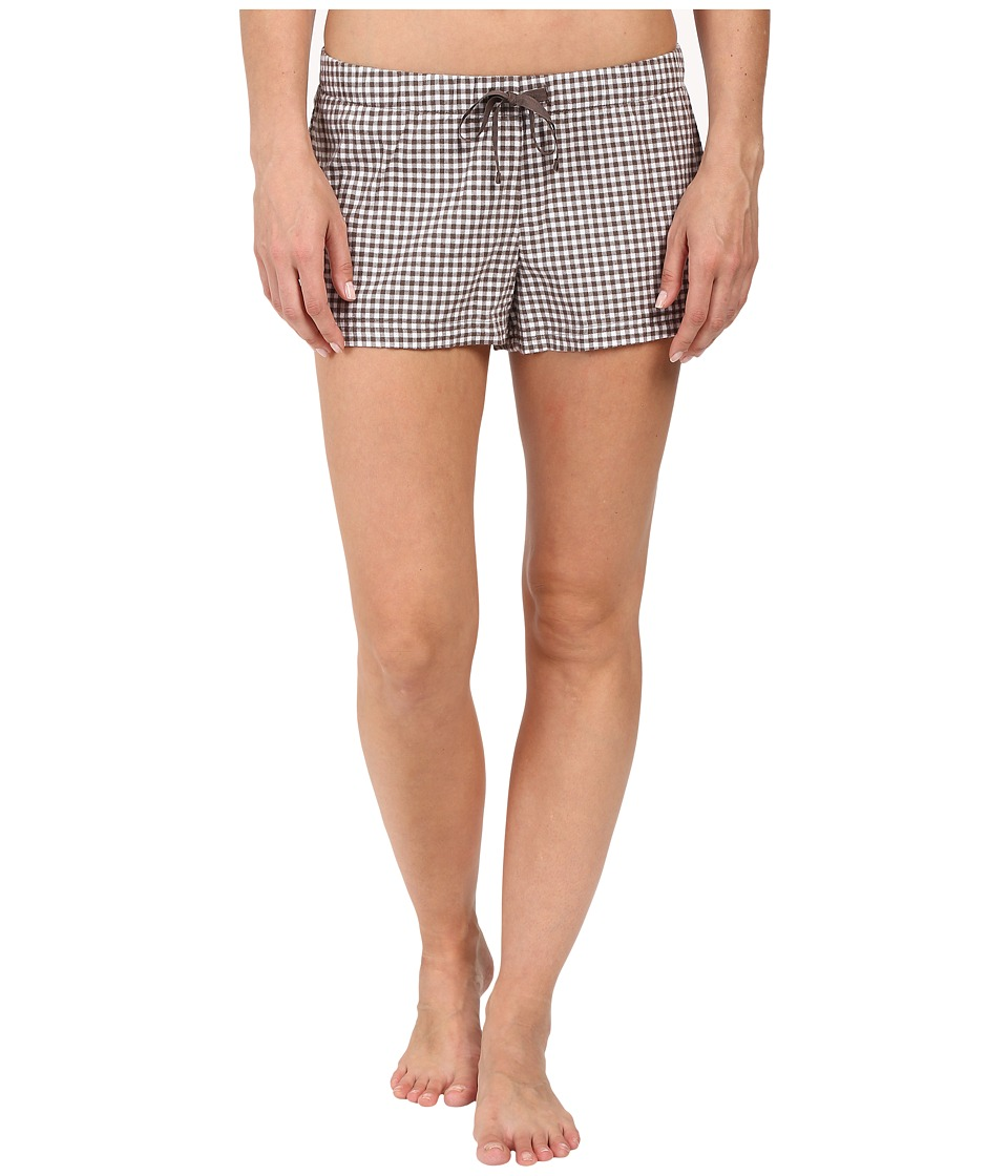 Life is good - Shale Plaid Sleep Boxers (Shale Brown Plaid) Women's Pajama
