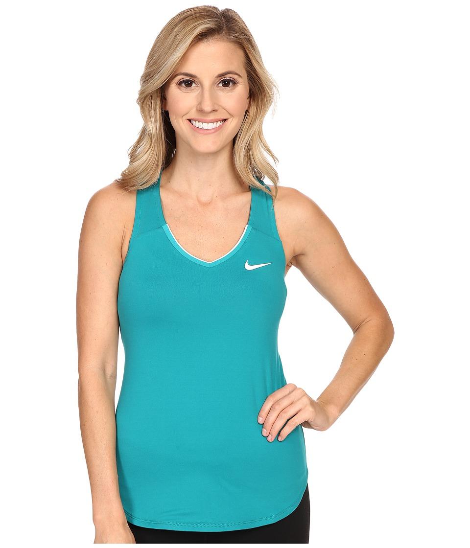 Nike - Court Team Pure Tennis Tank Top (Energy/White) Women's Sleeveless