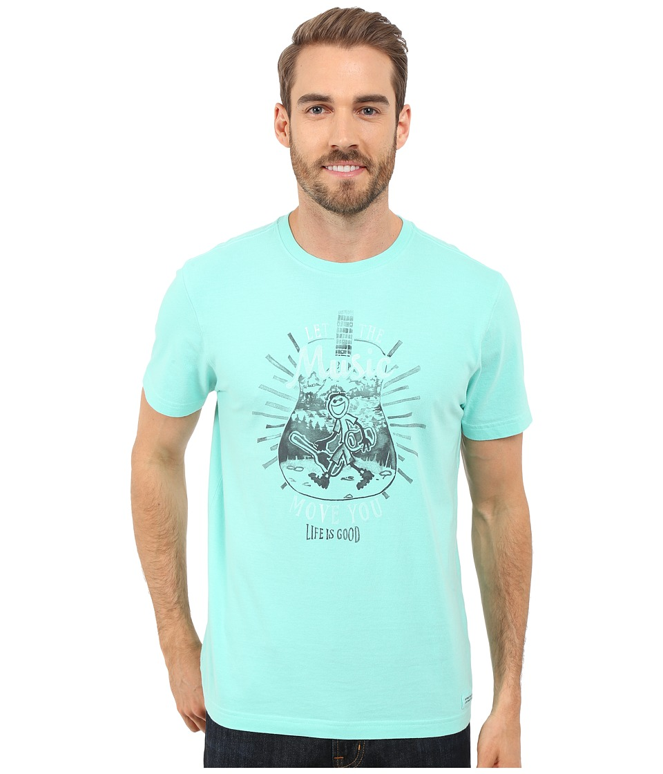 Life is good - Let The Music Move You Crusher Tee (Cool Aqua) Men