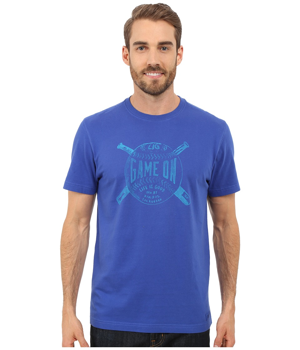 Life is good - Game On Crusher Tee (Cobalt Blue) Men's T Shirt