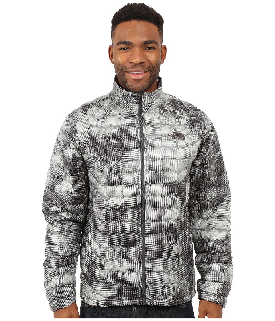 The North Face - ThermoBall Full Zip Jacket (Asphalt Grey Cirrus Print) Men's Coat