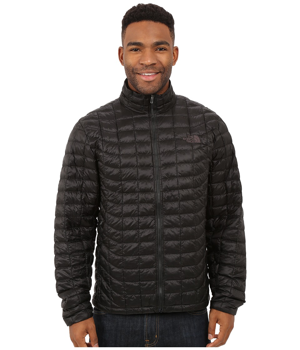The North Face - ThermoBall Full Zip Jacket (TNF Black/Bomber Blue Floral Camo Print) Men's Coat