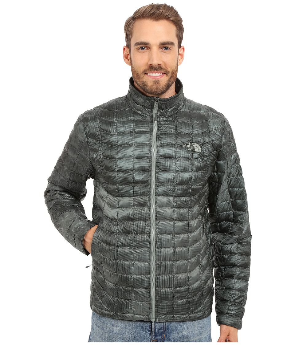 The North Face - ThermoBall Full Zip Jacket (Laurel Wreath Green Cirrus Print) Men's Coat