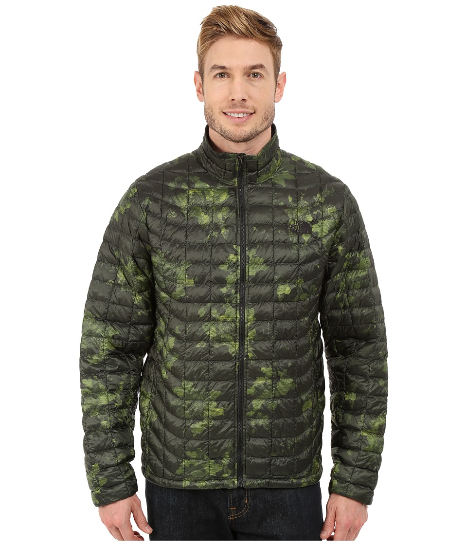 The North Face - ThermoBall Full Zip Jacket (Spruce Green Floral Camo Print) Men