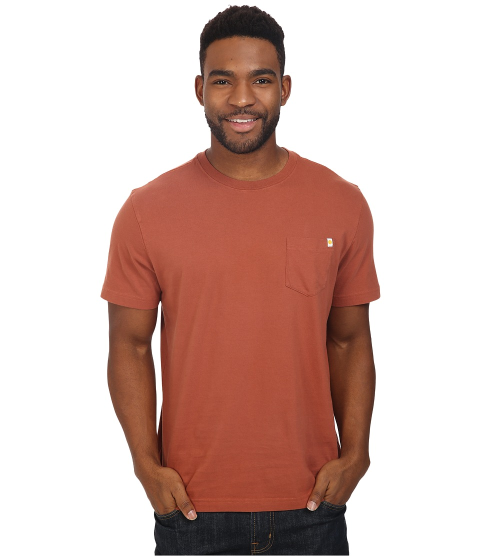Life is Good - Seas The Day Back Graphic Pocket Crusher Tee (Rusty Copper) Men's T Shirt