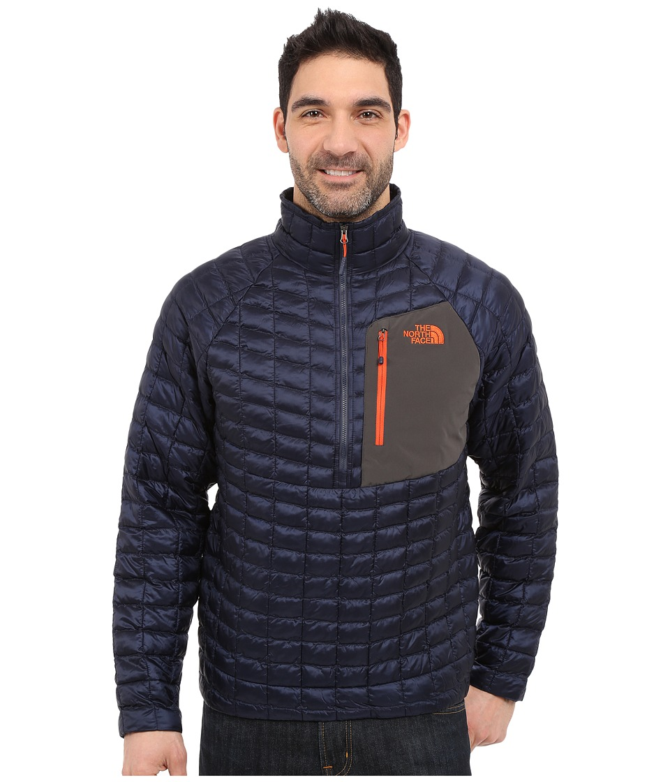 The North Face - ThermoBall Pullover (Cosmic Blue/Papaya Orange) Men's Coat