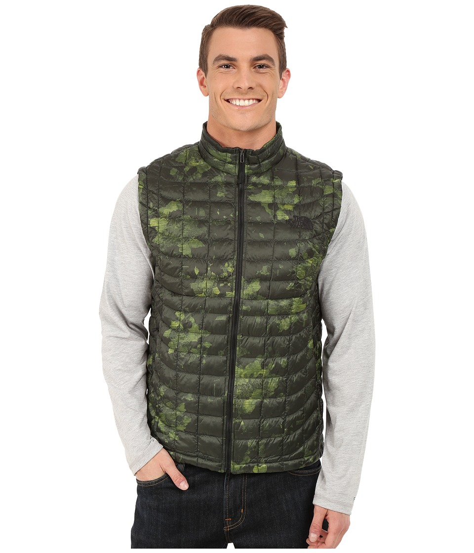 The North Face - ThermoBall Vest (Spruce Green Floral Camo Print) Men's Vest